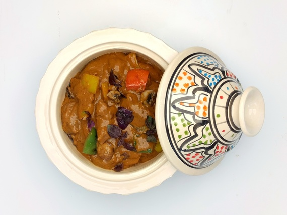 For page sous vide concept arabische goulash